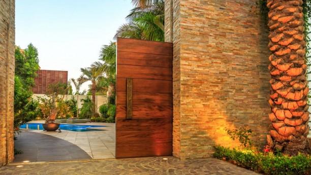 Wood external doors