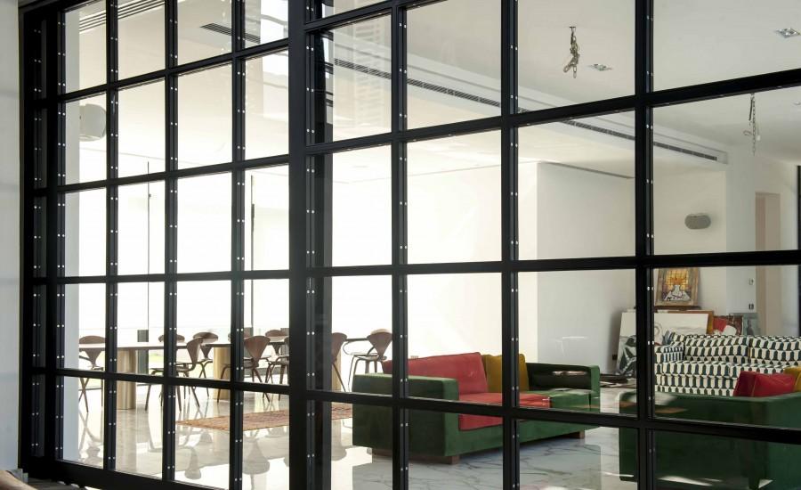Steel Glass Sliding Door Al Hurafi
